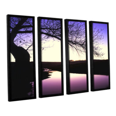 Brushstone Squaw Valley Twilight 4-pc. Floater Framed Canvas Wall Art