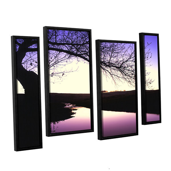 Brushstone Squaw Valley Twilight 4-pc. Floater Framed Staggered Canvas Wall Art