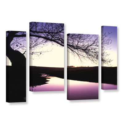 Brushstone Squaw Valley Twilight 4-pc. Gallery Wrapped Staggered Canvas Wall Art