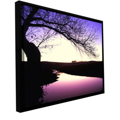 Brushstone Squaw Valley Twilight Gallery Wrapped Floater-Framed Canvas Wall Art