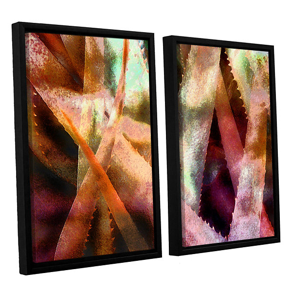 Brushstone Suculenta Paleta 2 2-pc. Floater FramedCanvas Wall Art