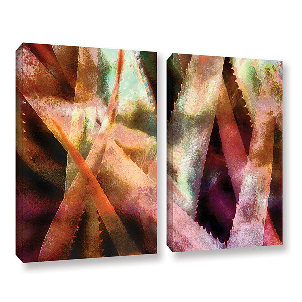 Brushstone Suculenta Paleta 2 2-pc. Gallery Wrapped Canvas Wall Art