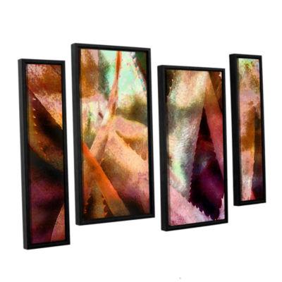 Brushstone Suculenta Paleta 2 4-pc. Floater FramedStaggered Canvas Wall Art