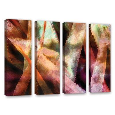 Brushstone Suculenta Paleta 2 4-pc. Gallery Wrapped Canvas Wall Art