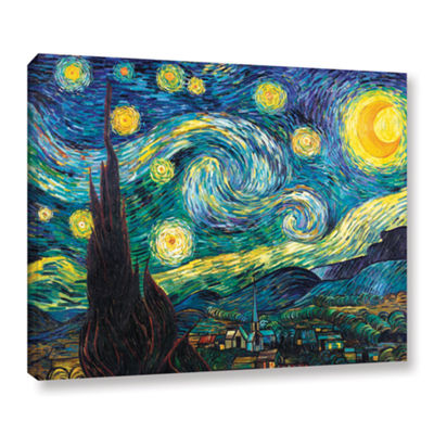 Brushstone Starry Night Gallery Wrapped Canvas Wall Art