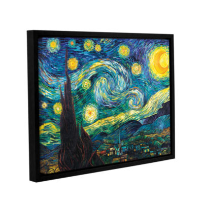 Brushstone Starry Night Gallery Wrapped Floater-Framed Canvas Wall Art