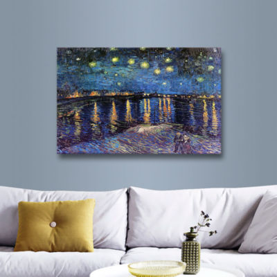 Brushstone Starry Night Over the Rhone (008) 2-pc.Gallery Wrapped Canvas Wall Art