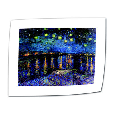 Brushstone Starry Night Over the Rhone (008) Canvas Wall Art