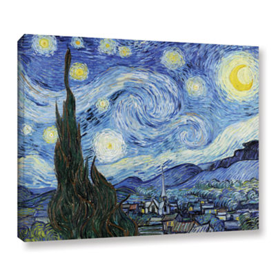 Brushstone Starry Night (Lighter version) GalleryWrapped Canvas Wall Art