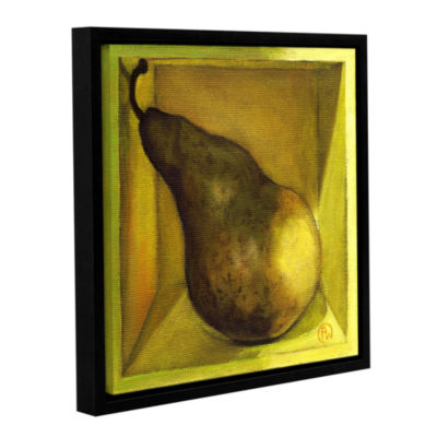 Brushstone Square Pear Gallery Wrapped Floater-Framed Canvas Wall Art