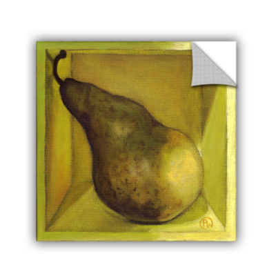 Brushstone Square Pear Removable Wall Decal