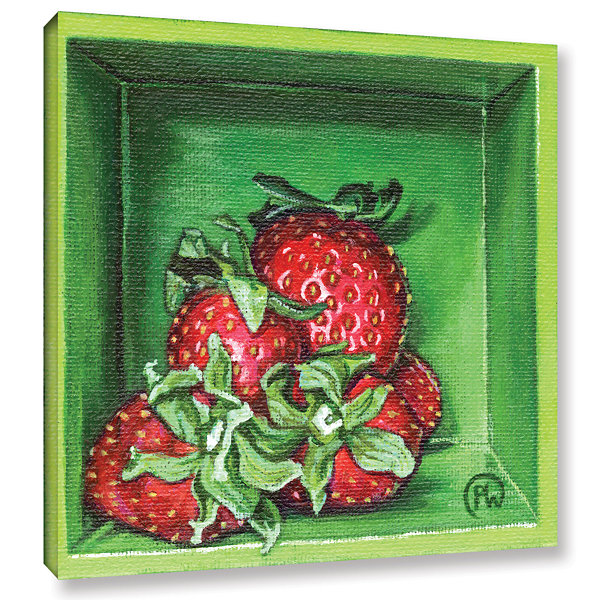 Brushstone Strawberries Gallery Wrapped Canvas Wall Art