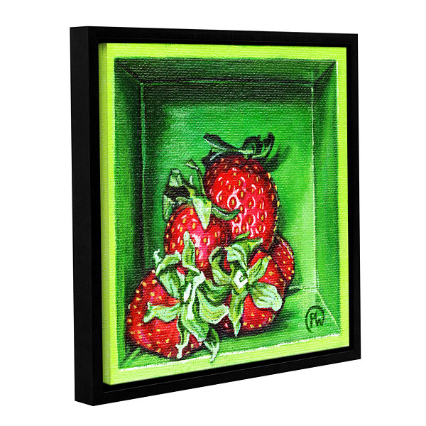 Brushstone Strawberries Gallery Wrapped Floater-Framed Canvas Wall Art