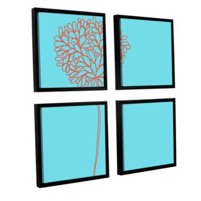 Brushstone Standing Still 4-pc. Square Floater Framed Canvas Wall Art