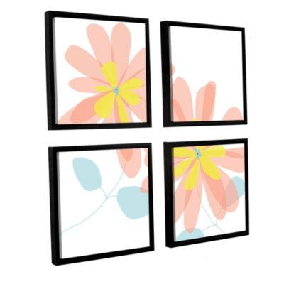 Brushstone Sun Kissed 1 4-pc. Square Floater Framed Canvas Wall Art