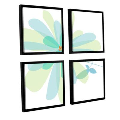 Brushstone Sun Kissed 2 4-pc. Square Floater Framed Canvas Wall Art