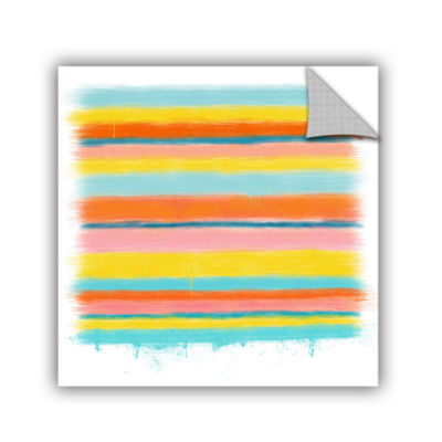 Brushstone Stripes Removable Wall Decal