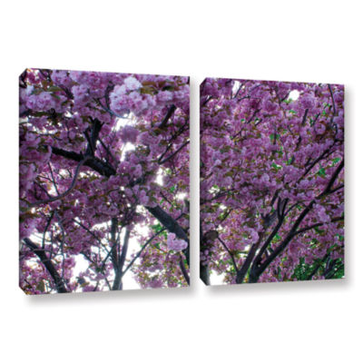 Brushstone Spring Flowers 2-pc. Gallery Wrapped Canvas Wall Art