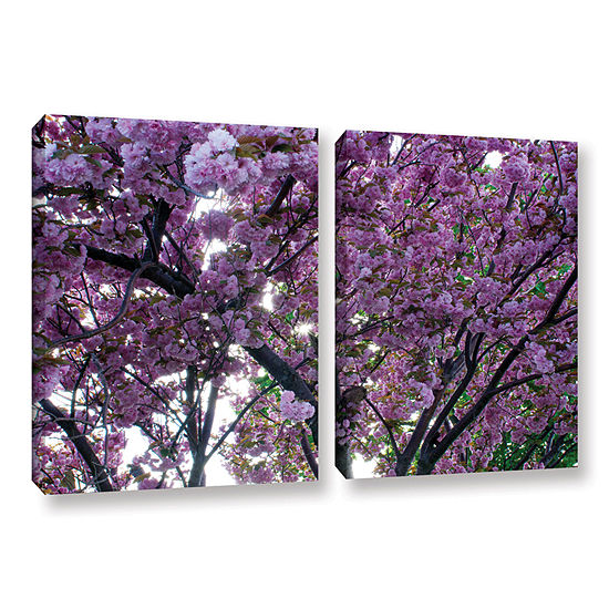 Brushstone Spring Flowers 2 Pc Gallery Wrapped Canvas Wall Art