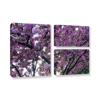 Brushstone Spring Flowers 3-pc. Flag Gallery Wrapped Canvas Wall Art