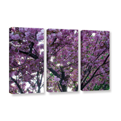 Brushstone Spring Flowers 3-pc. Gallery Wrapped Canvas Wall Art