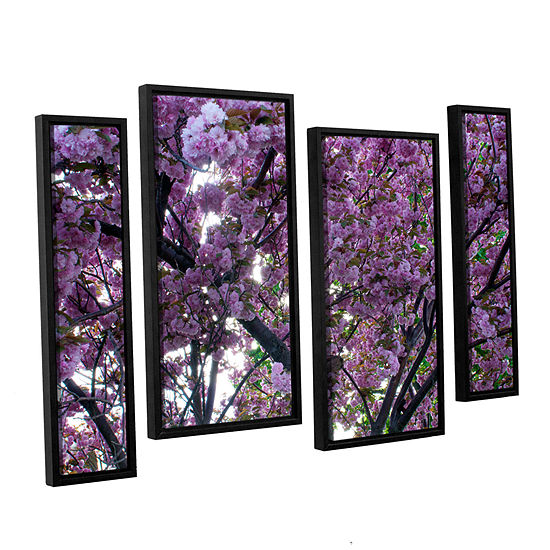 Brushstone Spring Flowers 4-pc. Floater Framed Staggered Canvas Wall Art