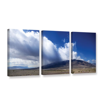 Brushstone Storm in Death Valley 3-pc. Gallery Wrapped Canvas Wall Art