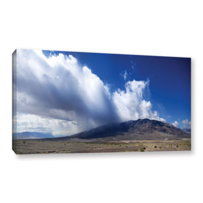 Brushstone Storm in Death Valley Gallery Wrapped Canvas Wall Art