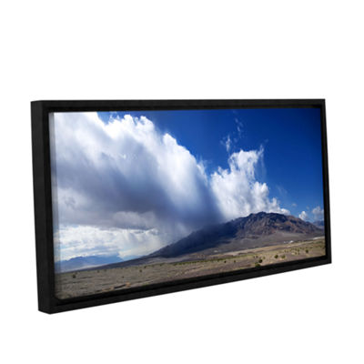 Brushstone Storm in Death Valley Gallery Wrapped Floater-Framed Canvas Wall Art