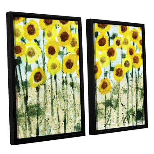 Brushstone Sundrops 2-pc. Floater Framed Canvas Wall Art