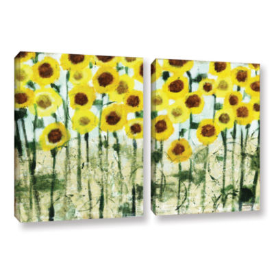 Brushstone Sundrops 2-pc. Gallery Wrapped Canvas Wall Art
