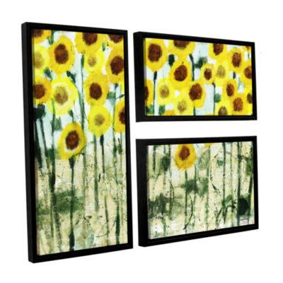 Brushstone Sundrops 3-pc. Flag Floater Framed Canvas Wall Art