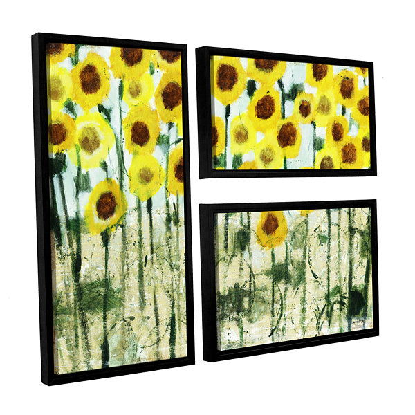 Brushstone Sundrops 3-pc. Flag Floater Framed Canvas Wall Art - JCPenney