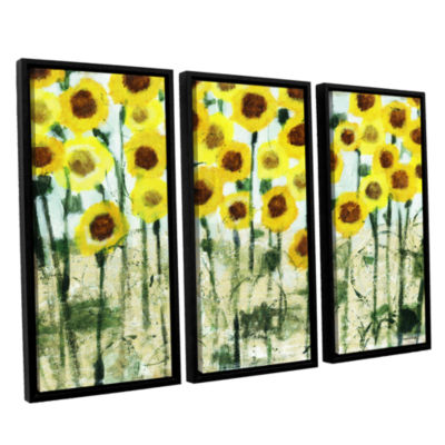 Brushstone Sundrops 3-pc. Floater Framed Canvas Wall Art