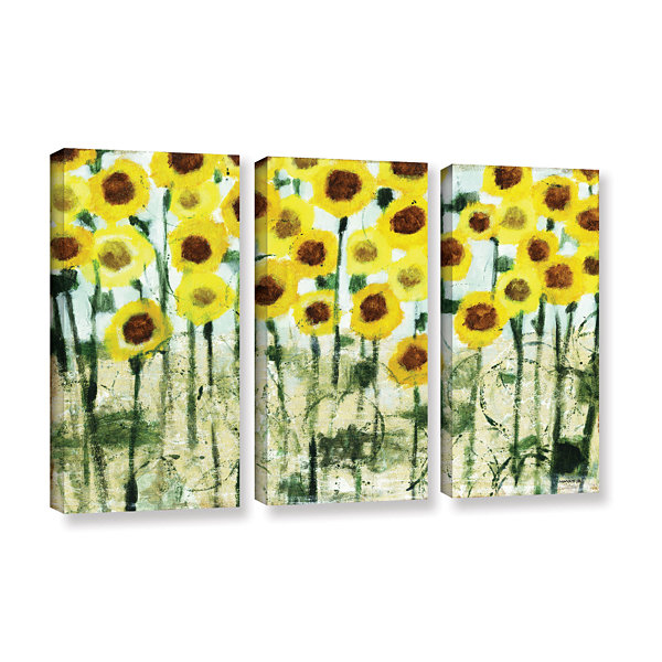 Brushstone Sundrops 3-pc. Gallery Wrapped Canvas Wall Art - JCPenney