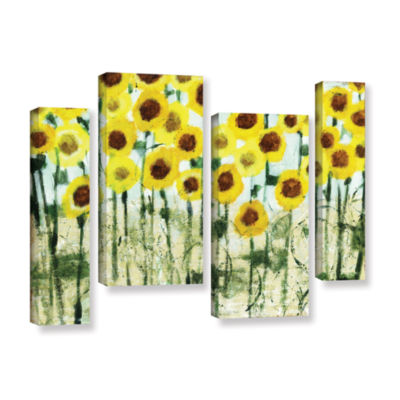 Brushstone Sundrops 4-pc. Gallery Wrapped Staggered Canvas Wall Art