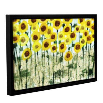 Brushstone Sundrops Gallery Wrapped Floater-FramedCanvas Wall Art