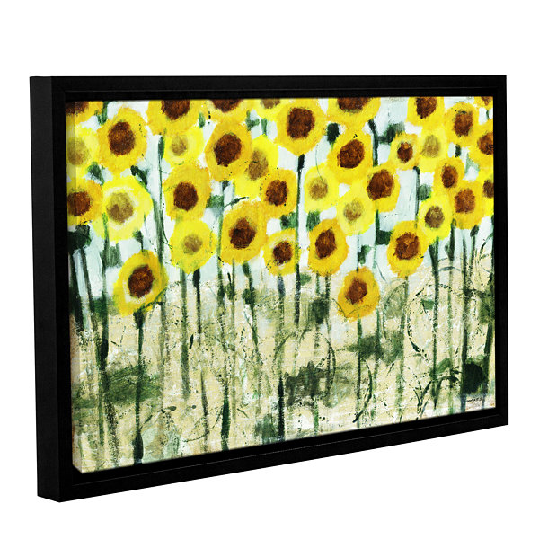 Brushstone Sundrops Gallery Wrapped Floater-FramedCanvas Wall Art