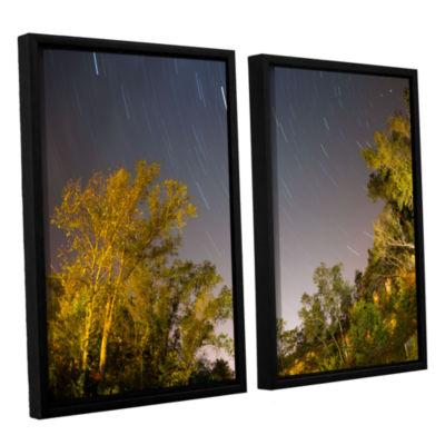 Brushstone Star Trails 2-pc. Floater Framed CanvasWall Art