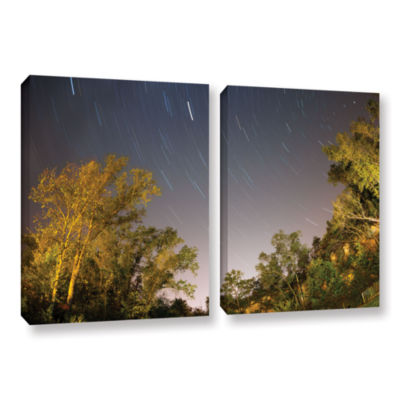 Brushstone Star Trails 2-pc. Gallery Wrapped Canvas Wall Art