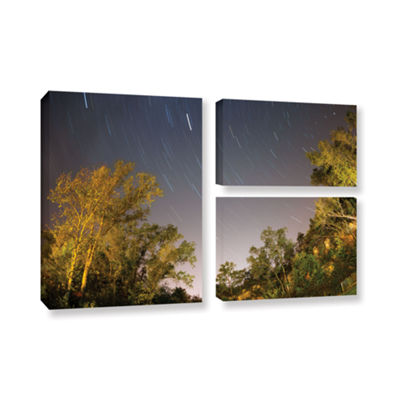 Brushstone Star Trails 3-pc. Flag Gallery WrappedCanvas Wall Art
