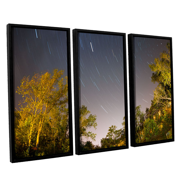 Brushstone Star Trails 3-pc. Floater Framed CanvasWall Art