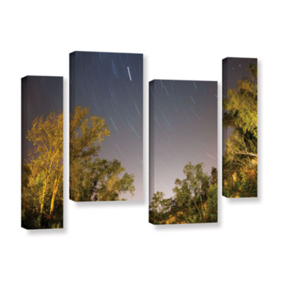 Brushstone Star Trails 4-pc. Gallery Wrapped Staggered Canvas Wall Art