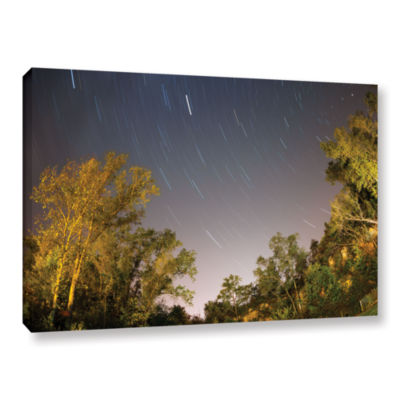 Brushstone Star Trails Gallery Wrapped Canvas WallArt