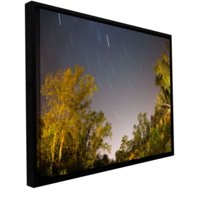 Brushstone Star Trails Gallery Wrapped Floater-Framed Canvas Wall Art