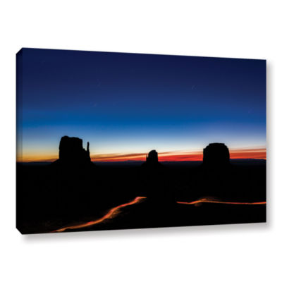 Brushstone Stars Over Monument Valley Gallery Wrapped Canvas Wall Art
