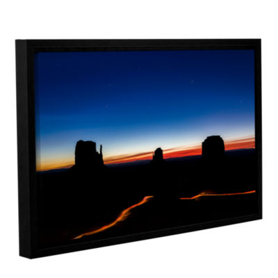 Brushstone Stars Over Monument Valley Gallery Wrapped Floater-Framed Canvas Wall Art