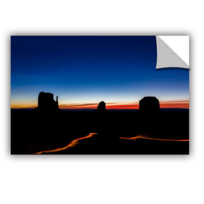 Brushstone Stars Over Monument Valley Removable Wall Decal
