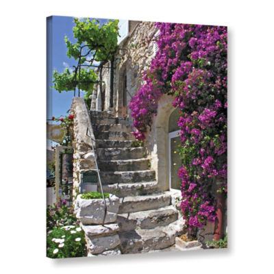 Brushstone St Paul De Vence  France Gallery Wrapped Canvas Wall Art