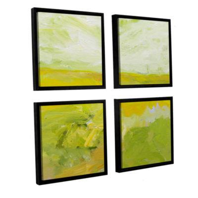 Brushstone Blackburn 4-pc. Square Floater Framed Canvas Wall Art